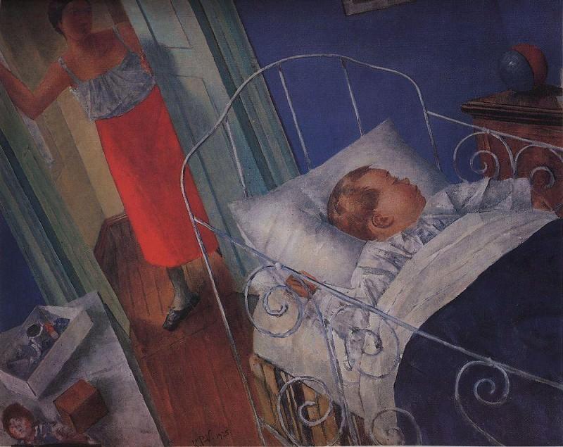 In the nursery. 1925. Kuzma Sergeevich Petrov-Vodkin