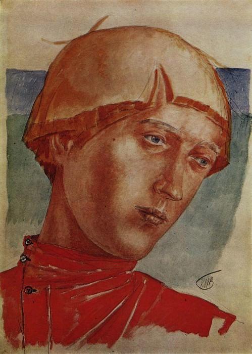 head boys. 1918. Kuzma Sergeevich Petrov-Vodkin