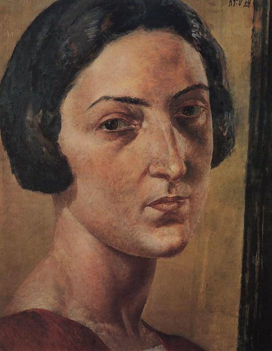 Portrait LM Ehrenburg. 1924. Kuzma Sergeevich Petrov-Vodkin