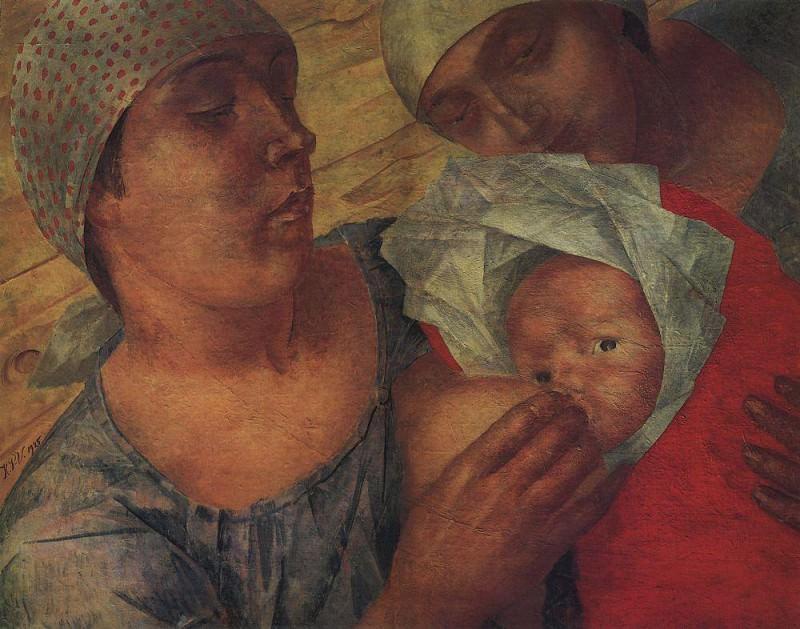 Motherhood. 1925. Kuzma Sergeevich Petrov-Vodkin