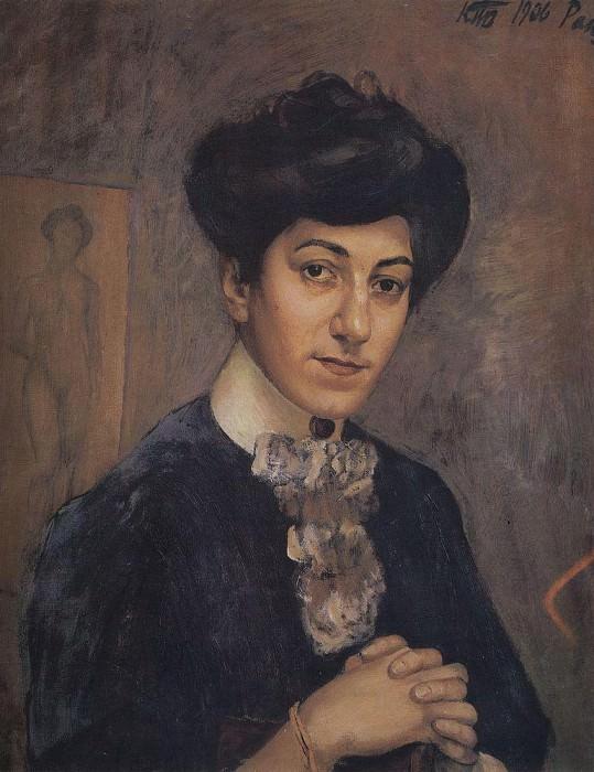 Portrait of the artists wife. 1906. Kuzma Sergeevich Petrov-Vodkin