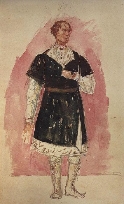 Sketch to the tragedy of Pushkin, Boris Godunov 2. 1923. Kuzma Sergeevich Petrov-Vodkin