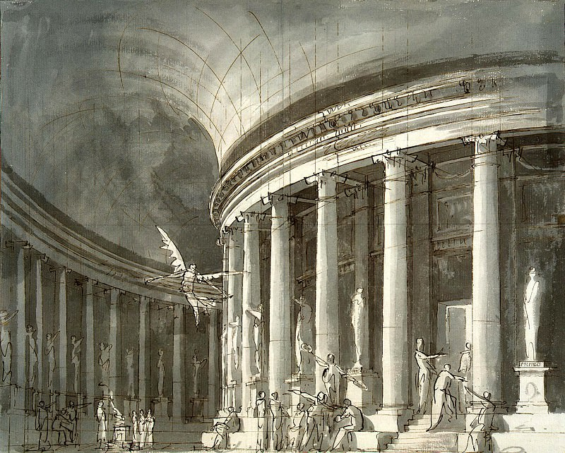 Gonzaga Pietro di Gottardo - Church with a colonnade-rotunda, figures and sculpture philosophers. Hermitage ~ part 04