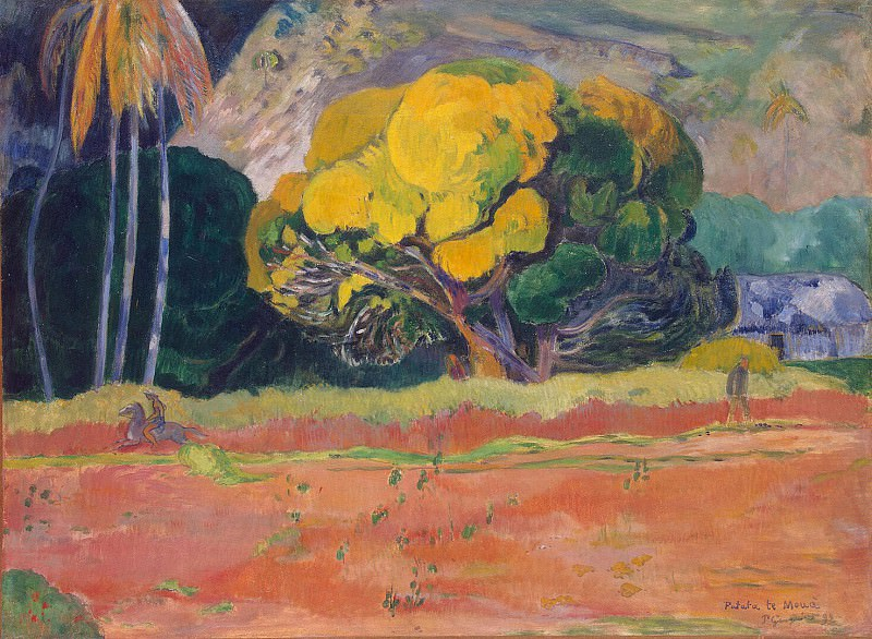 Gauguin, Paul - At the foot of the mountain. Hermitage ~ part 04