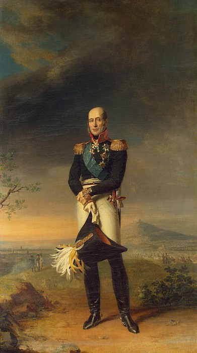Dawe George - Portrait of Mikhail Bogdanovich Barclay de Tolly. Hermitage ~ part 04