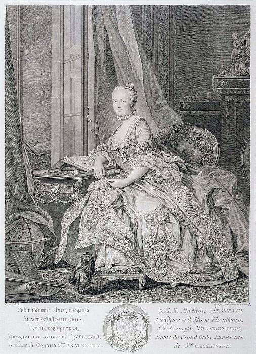 Dollé, Jean - Portrait of Anastasia Ivanovna, Lande Countess of Hesse-Hamburg. Hermitage ~ part 04