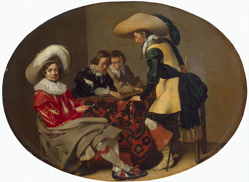 Deyster, Willem - Officers who play backgammon. Hermitage ~ part 04