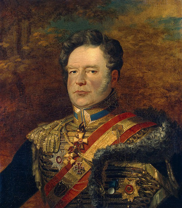 Dawe George - Portrait of Fyodor Vasilyevich Riediger. part 04 Hermitage
