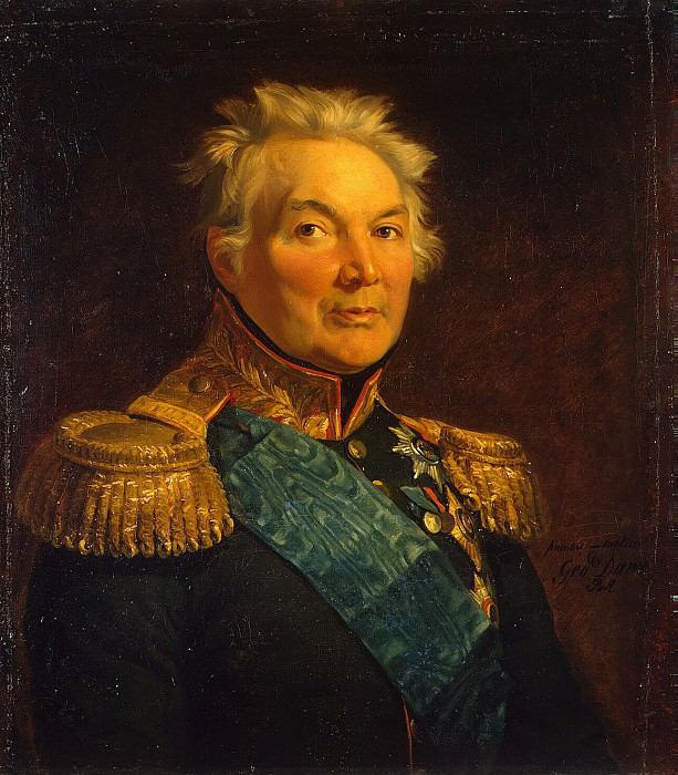 Dawe George - Portrait of Fabian Vilgelmovich von der Osten-Sacken. Hermitage ~ part 04