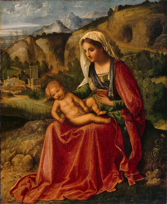 Giorgione - The Virgin and Child in a Landscape. Hermitage ~ part 04