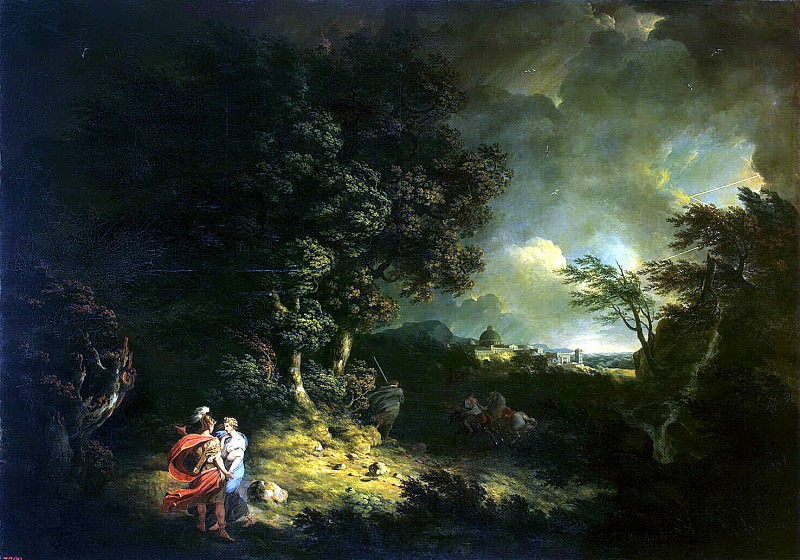 Jones, Thomas - Landscape with Aeneas and Dido. Hermitage ~ part 04