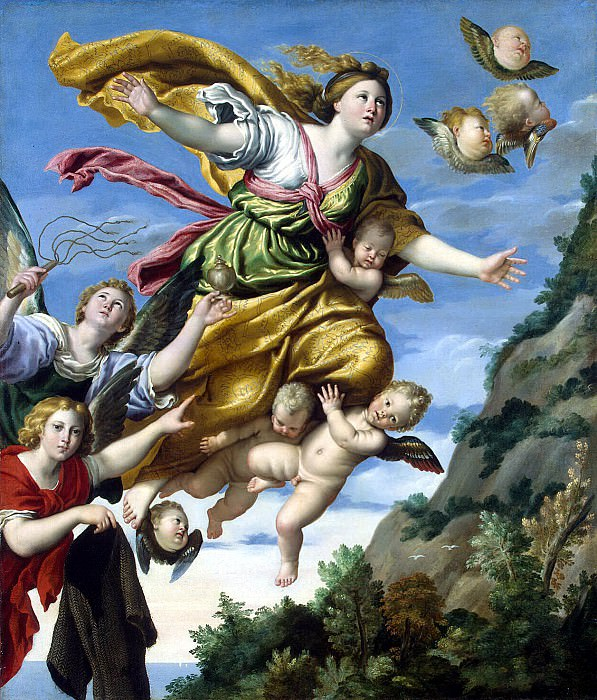 Domenichino - The Taking of Mary Magdalene in the sky. Hermitage ~ part 04