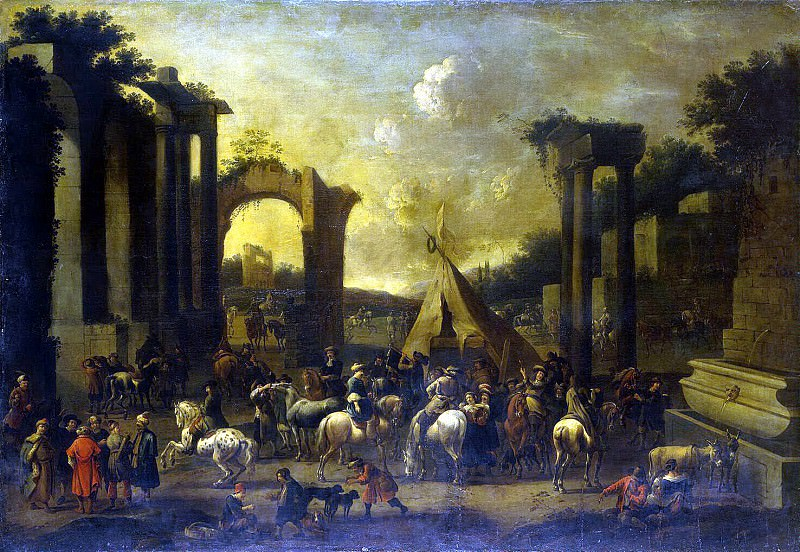Dauv, Simon Johannes van - Horsemen among the ruins. Hermitage ~ part 04