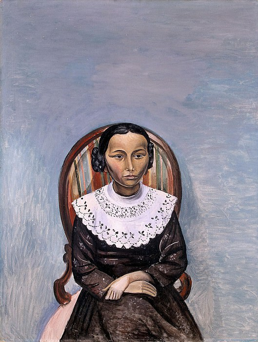 Derain, Andre - Portrait of a girl in black. Hermitage ~ part 04