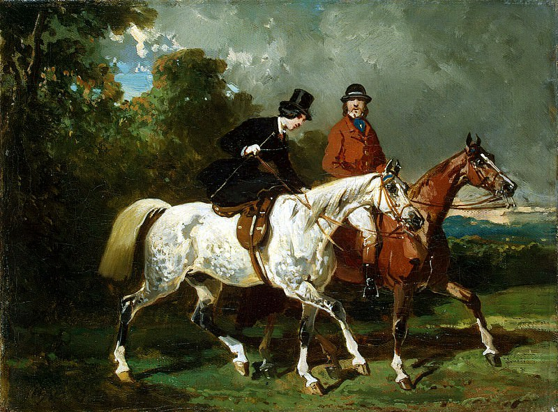 Dedra, Alfred - Horse riding. Hermitage ~ part 04