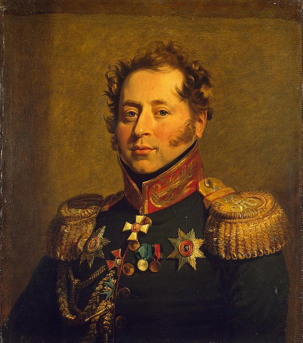 Dawe George - Portrait of Nikolai Mikhailovich Borozdina. Hermitage ~ part 04