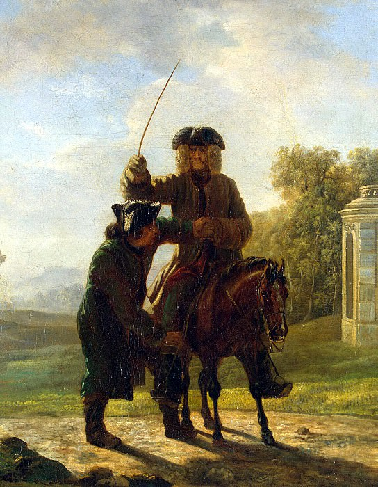 Hubert, Jean - Voltaire on horseback ride. Hermitage ~ part 04