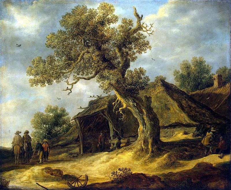 Goyen, Jan van - Landscape with oak. Hermitage ~ part 04