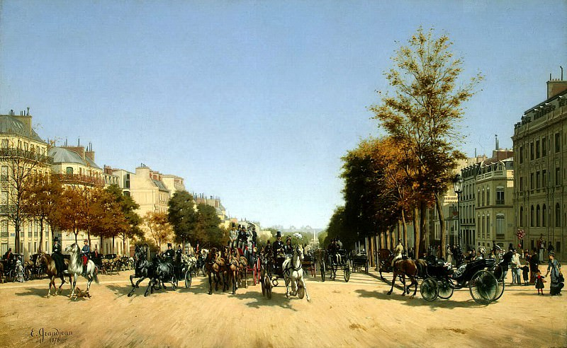 Grandjean, Edmond Georges - View from the Champs Elysees area stars. Hermitage ~ part 04
