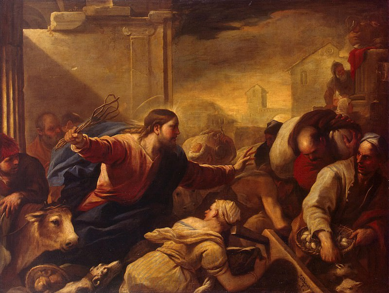 Giordano Luca - Expulsion of merchants from the temple. Hermitage ~ part 04