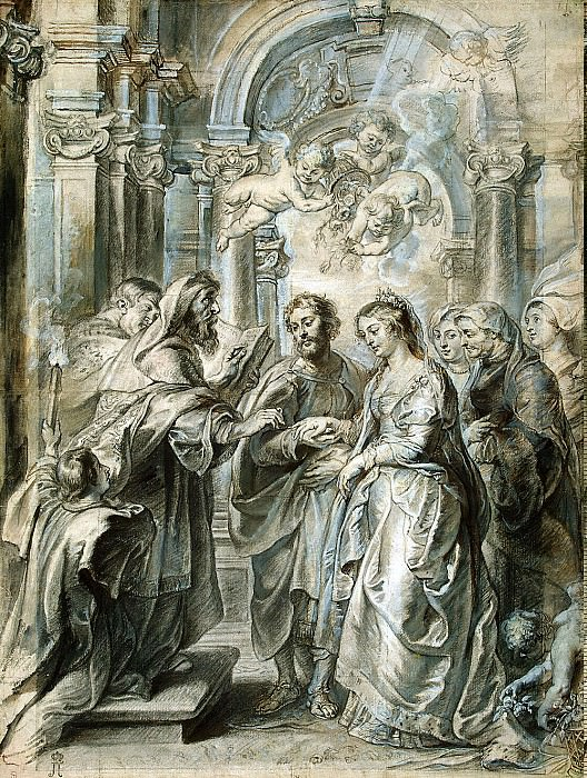 Dipenbek, Abraham van Rubens Pieter Paul - Marriage of Madonna. Hermitage ~ part 04