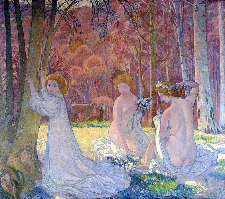 Denis Maurice - Figures in a spring landscape. Hermitage ~ part 04