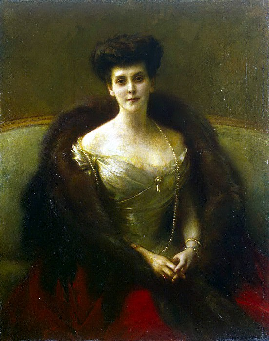 Danyang-Bouveret, Pascal Adolphe Jean - Portrait of Countess Gogenfelzen. Hermitage ~ part 04