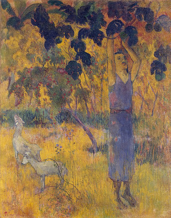 Gauguin, Paul - Man, gathering fruit from the tree. Hermitage ~ part 04