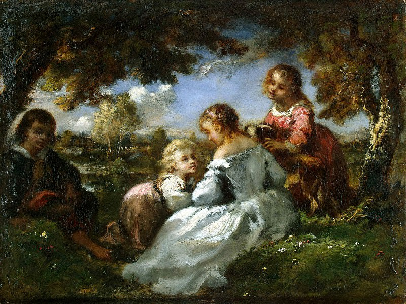 Diaz de la Pena, Narcisse Virgile - Kids in the garden. Hermitage ~ part 04