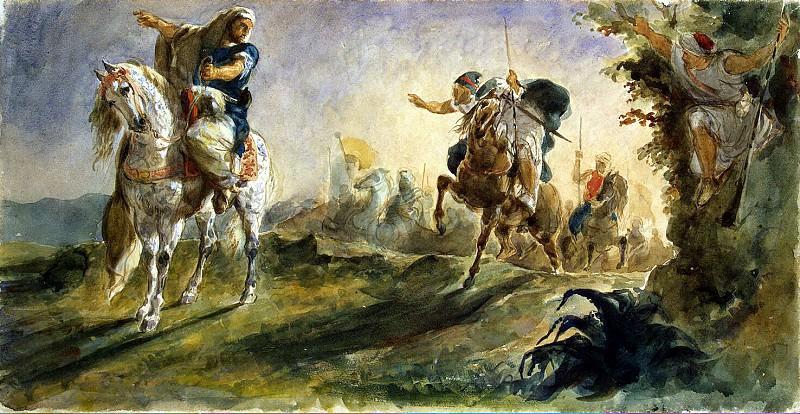 Delacroix, Eugene - Arab Riders. Hermitage ~ part 04