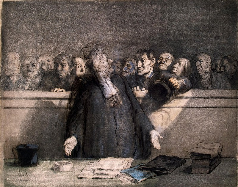 Daumier, Honoré - Saving speech. Hermitage ~ part 04