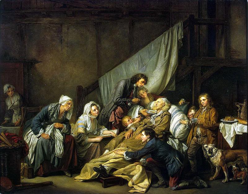 Greuze, Jean-Baptiste - Paralytic. Hermitage ~ part 04