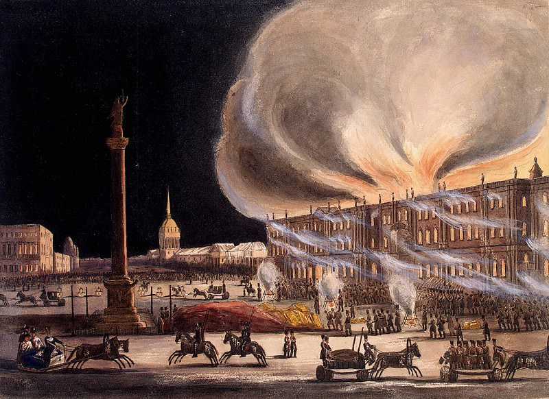 Greene, Bob - Fire in the Winter Palace on Dec. 17, 1837. Hermitage ~ part 04
