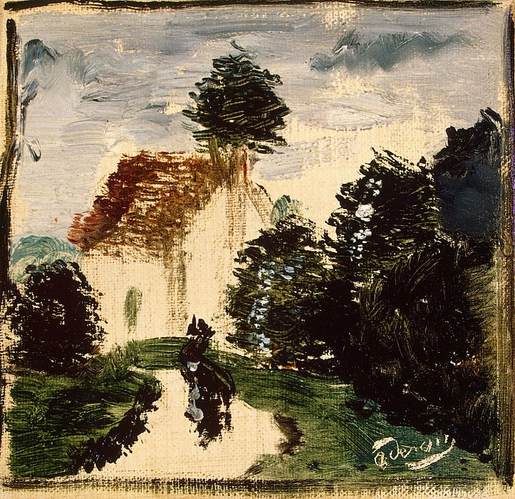 Derain, Andre - Path in the park with the character. Hermitage ~ part 04