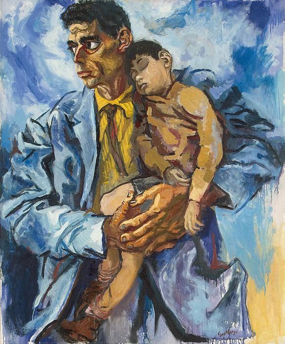 Гуттузо, Ренато - Портрет Рокко с сыном. Эрмитаж ~ часть 4