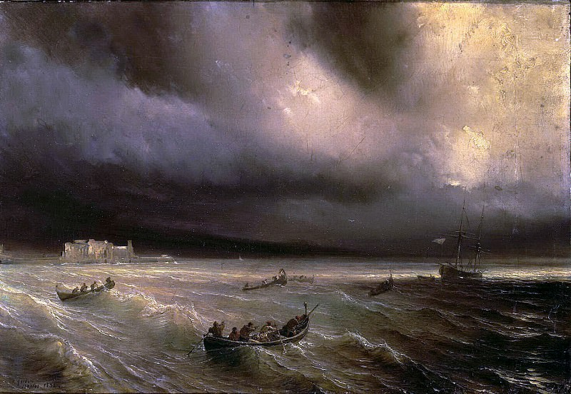 Gudin Theodore - Storm at Sea. Hermitage ~ part 04