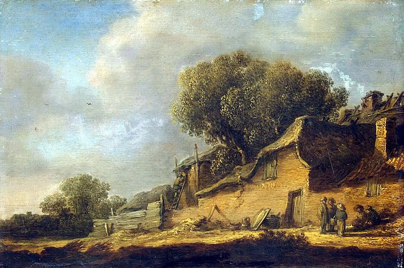 Гойен, Ян ван - Пейзаж с крестьянской хижиной. Эрмитаж ~ часть 4