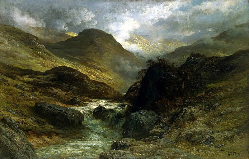 Dore, Gustave - Gorge in the Mountains. Hermitage ~ part 04