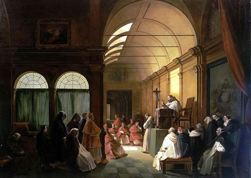 Granet, Francois Marius - Meeting of the monastery of the chapter. Hermitage ~ part 04