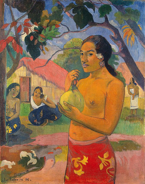 Gauguin, Paul - Woman Holding a Fruit. Hermitage ~ part 04