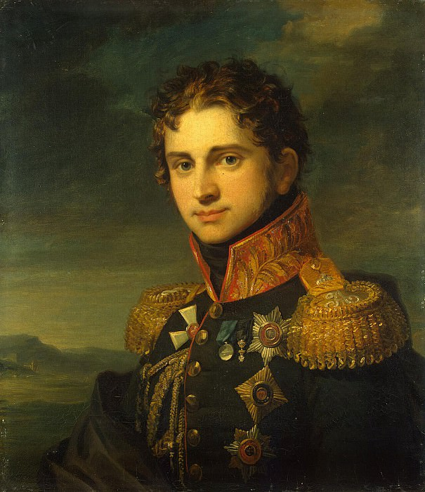 Dawe George - Portrait of Pavel Alexandrovich Stroganov. part 04 Hermitage