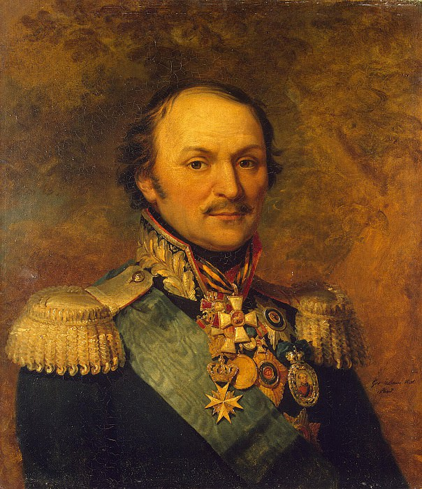 Dawe George - Portrait of Matvey Ivanovich Platov. Hermitage ~ part 04