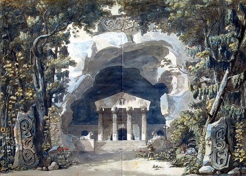 Despres, Louis-Jean - Sketch for opera Frigg. Hermitage ~ part 04