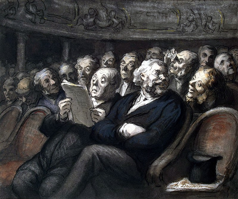 Daumier, Honore - Intermission at the theater Comedie Francaise. Hermitage ~ part 04