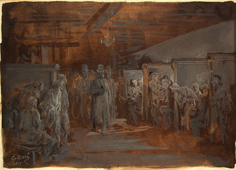 Dore, Gustave - Tavern in Whitechapel. Hermitage ~ part 04