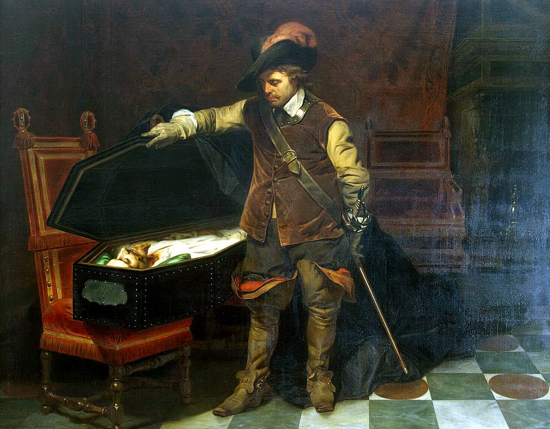 Delaroche, Hippolyte - Cromwell at the tomb of Charles I. Hermitage ~ part 04