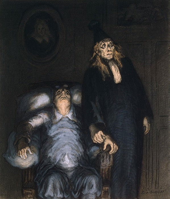 Daumier, Honore - The Imaginary Invalid. Hermitage ~ part 04