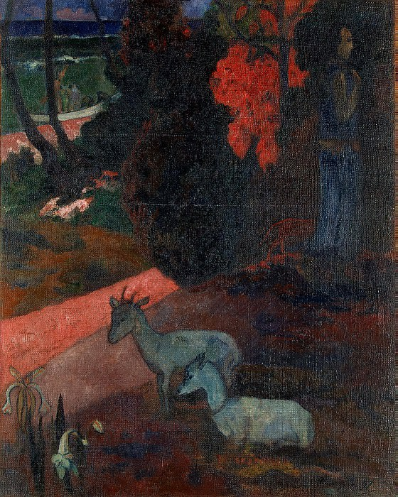 Gauguin Paul - Landscape with two goats. Hermitage ~ part 04