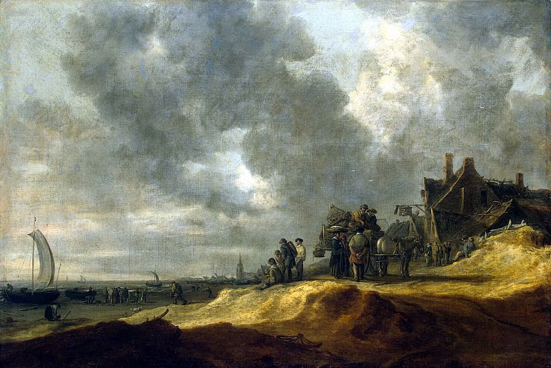 Goyen, Jan van - Beach at Scheveningen. Hermitage ~ part 04