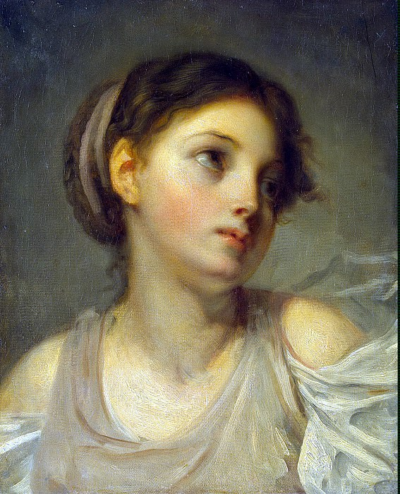 Greuze, Jean-Baptiste - Girl in a lilac tunic. Hermitage ~ part 04